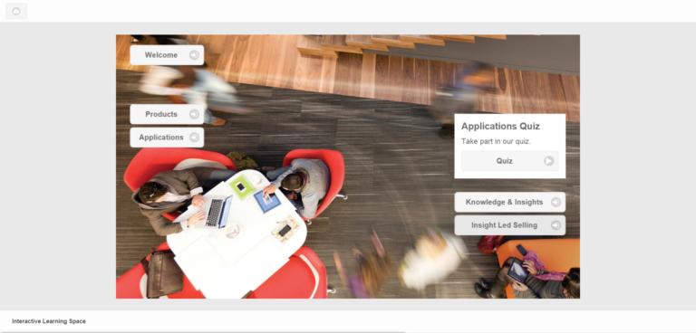 Screenshot der inside E-Learning Lösung für Steelcase, die Lernwelt