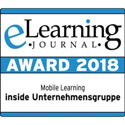 "eLearning Journal ""Mobile Learning"" Award 2018 für die inside Unternehmensgruppe"