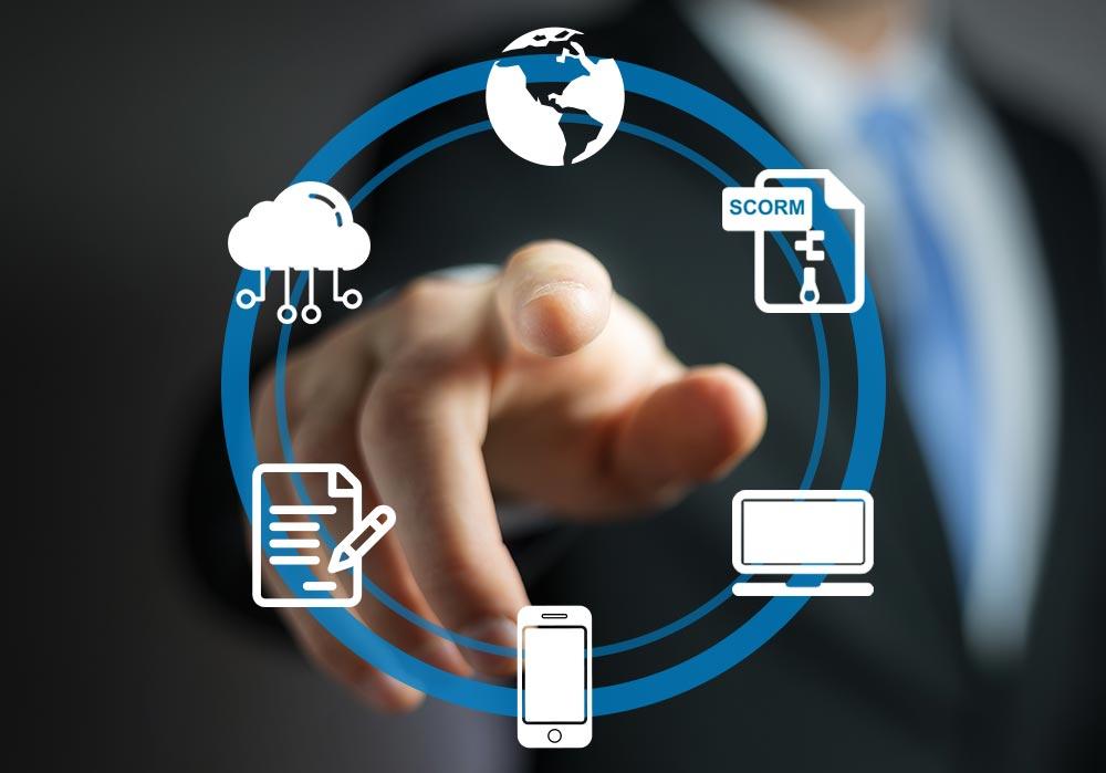 Die Publishing-Möglichkeiten des eAuthor Autorensystems als Icons dargestellt