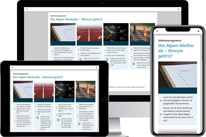 Autorentool-Screenshot mit responsiven Lernmedien