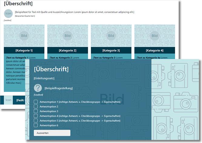Autorentool-Screenshot mit Templates für die E-Learning-Erstellung