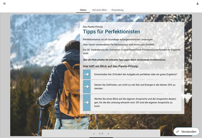 Autorentool-Screenshot mit Microlearning-Einheit