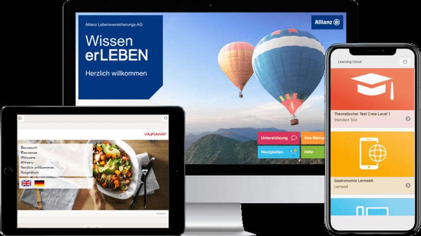 E-Learning Software von inside in verschiedenen Endgeräten