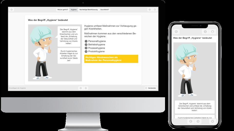 Mit dem Autorensystem eAuthor produzierte Lernmedien, dargestellt in verschiedenen Endgeräten