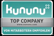 kununu Top Company Siegel für Arbeitgeber, die oft weiterempfohlen werden